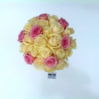Cream and Pink Rose Bouquet