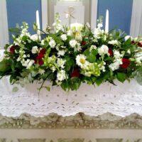 Wedding Flowers at Raheen Church
