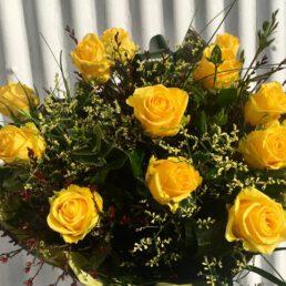 12 Long Stemmed Yellow Roses
